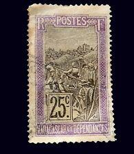 Madagascar (Malagasy Republic) Stamps- Scott # 92/A9-25c-Canc/LH-1922