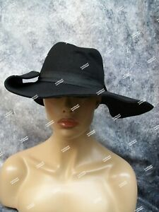 Floppy Black Witch Hat Unisex Hillbilly Medieval Peasant Renaissance Wizard Hag