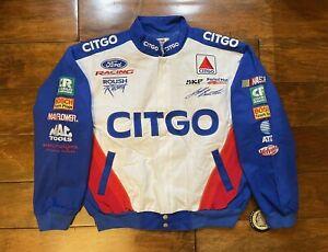 Jeff Burton #99 Citgo Racing Race Jacket Mens Size Large NASCAR New Roush