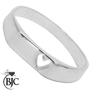 Sterling Silver 925 Heart Children's Child's Signet Ring Size A - V British Made