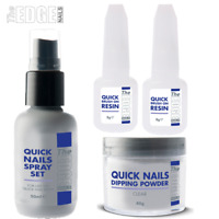The Edge Nails Quick Nails Acrylic Trial - Starter Kit Resin Activator & Powder