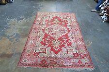 Antique Turkish Anatolian Oushak Ushak Rug Hand Knotted Wool on Wool 4'6 x 6'8