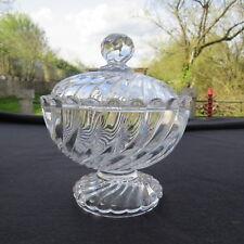 drageoir sucrier en cristal de baccarat modèle bambou torse signé