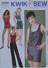 Kwik Sew Sewing Pattern 2723 HIGH WAISTED DANCE PANTS SHORTS TOP XS-XL NEW