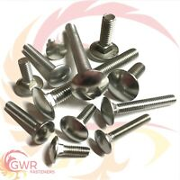 Bolt Base 8mm A2 Stainless Steel Coach Bolts Cup Square Carriage Bolt Screws DIN 603 M8 X 70-10