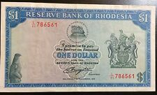 Rhodesia 1 November 1976 $1 #P34a Bill in Almost Uncirculated Condition