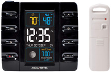 13020 Intelli-Time Weather Station Clock with Temperature and USB