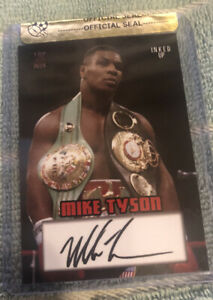 Mike Tyson Top Deck Inked Up Signed Boxing Trading Card Limited Edition