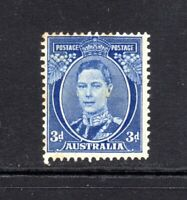 1940 - 3d BRIGHT BLUE - KGVI (DIE III)  - MINT (MVLH) - TONED