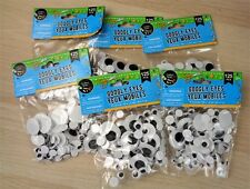 58acab7713650 Crafter s Square Black Googly Eyes - 125 Total 3 Different Sizes