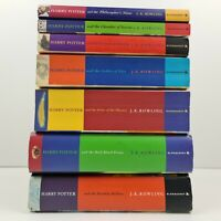 Harry Potter J.K. Rowling Complete 1-7 Book Set - 2x 1st Edition Hardcover