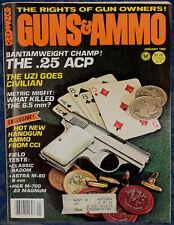 "Magazine GUNS & AMMO January 1982 ! VIS 35 ""Radom"" PISTOL !, *ASTRA A-80 PISTOL*"