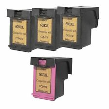 Printenviro HP 60XL 3 Black CC641W & 1 Color CC644W  Reman Ink Cartridges D2560