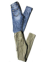 Silver Jeans Womens High Rise Jeans Cargo Pants Blue Green Size 26 Lot 2