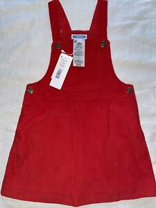 NWT Jacadi overall red dress size 3 years
