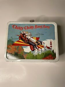 Vtg 1968 Chitty Chitty Bang Bang Metal Lunch Box Set with Thermos King Seeley