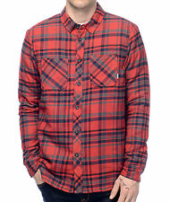 2016 NWT MENS ELEMENT CUPSAW SHERPA INSULATED FLANNEL $75 M red cotton polyester