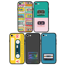 Cassette Case Glass Back Bumper Cover for Apple iPhone 7 8 PLUS X XS MAX XR