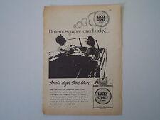 advertising Pubblicità 1958 SIGARETTE CIGARETTES LUCKY STRIKE