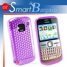 New Purple Soft Gel TPU Cover Case For Nokia E5 + Film