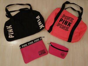 Victoria's Secret PINK bundle: 2 duffel bags, swimsuit bag and small purse. NEW