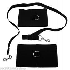 manette e cavigliere in stoffa elastiche bondage black fetish cuffs  guinzaglio