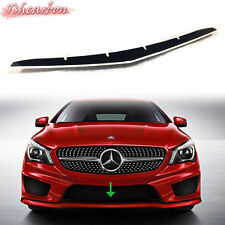 Painted White & Black Mercedes BENZ W117 Front Lip Spoiler Cover CLA250 CLA45 16