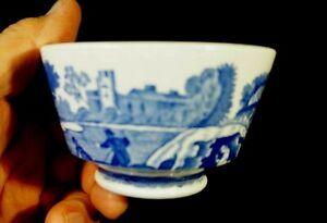 Beautiful Copeland Spode Italian Blue Sugar Bowl
