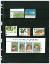 Anguilla 1997 & 1998 Princess Diana and Iguana Se-tenant Strips