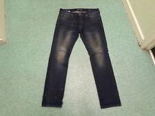 "Duck & Cover Slim Jeans Waist 34"" Leg 34"" Faded Dark Blue Mens Jeans"