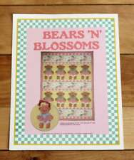 Bears and Blossoms Teddy Bear Quilt Vintage Quilt Pattern