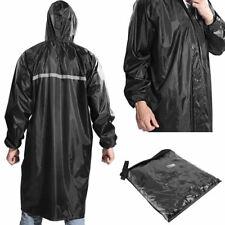 Unisex Cycling Hiking Hooded Raincoats Outdoor Reusable Long Rain Jacket Poncho
