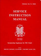 TRIUMPH TR2 & TR3 SERVICE INSTRUCTION MANUAL 3rd Edition 6th Printing 502602