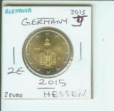 2015 GERMANY 2€ 2-€ HESSEN St. Paul's Church PAULSKIRCHE Hamburg J Mint Mark