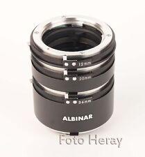 Albinar Extension Tube Zwischen Ringe 3er Set 36mm 20mm 12mm Minolta MD/SR 03471
