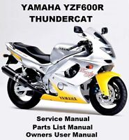 YAMAHA YZF600R THUNDERCAT - Owners Workshop Service Repair Parts Manual PDF CD-R