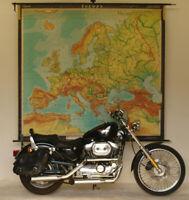 alte Schulwandkarte Europakarte 211x193cm~1960 vintage europe school wall map