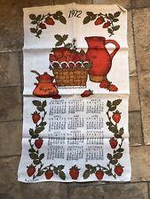 New listing Vintage 1972 Bill Brister Linen Clandar Tea Towel-Strawberries Mint Condition
