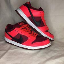 Nike SB Dunk Low Laser Crimson Red Black White 304292-606 Size Men's 10 Shoes