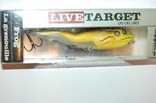 "koppers live target surface walking frog 4 1/8"" 5/8oz green brown"