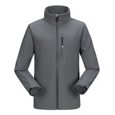 Mens Waterproof Soft Shell Jacket Fleece Lined Outdoor Hiking Camping Golf Coat