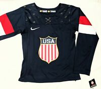 Women's XS/ Small Nike Team USA Olympic Hockey 1960/1980 Jersey Remake NWT