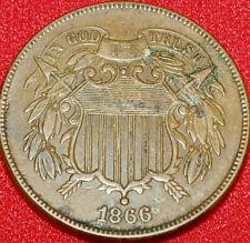 Sale item Old Coin,Civil War Era 1866 2 Cent. A Unique Gift in Rare condition