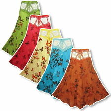 Full Length Polyester Hippy, Boho Regular Skirts for Women
