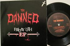 THE DAMNED Friday 13th EP (4 songs) 45 ps UK 80s PUNK RARE OOP Rat Scabies L@@K