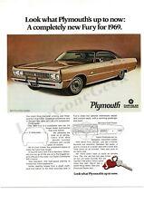 1969 PLYMOUTH Sport FURY Bronze Fire Brown 2-door Hardtop 1968 VTG PRINT AD