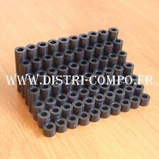 Entretoise plastique noir D3.6mm L 5 - 8 -10 - 15 - 20 - 25 - 30mm  (lot de 70)