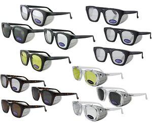 Titus G12 Retro Safety Glasses w/ Side Shields Z87 Ansi DOT Motorcycle Shooting