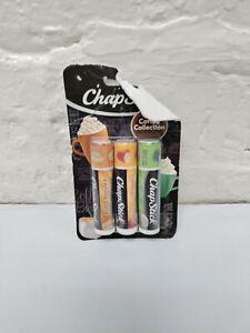 Chapstick Coffee Collection Vanilla Latte Caramel Macchiato Mint Mocha 3 Sticks