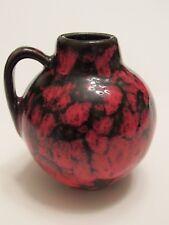 "Vintage 60-70's SCHEURICH KERAMIK Red Brown 410 Jug Vase W. German Pottery 3.5"""